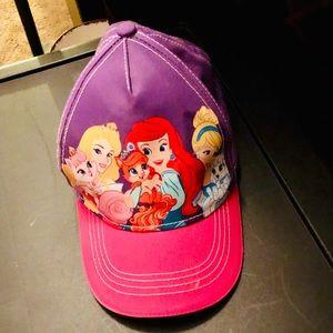 Disney Princess Hat Velcro Strap Pink and Purple